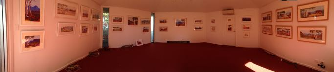 Panorama shot of the finished gallery